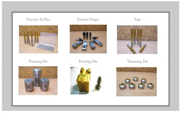各類模具及沖棒 tooling and punch pin